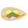 Glitter Sew-on Stone 10pcs Drop 16x30mm Yellow Aurora Borealis